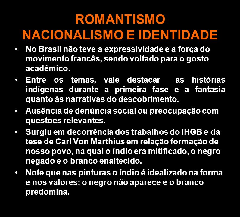 ROMANTISMO NACIONALISMO E IDENTIDADE