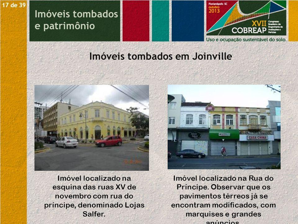 Imóveis tombados em Joinville