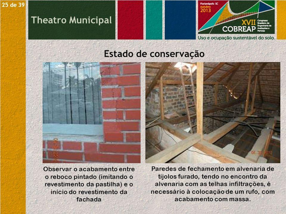 Theatro Municipal Estado de conservação