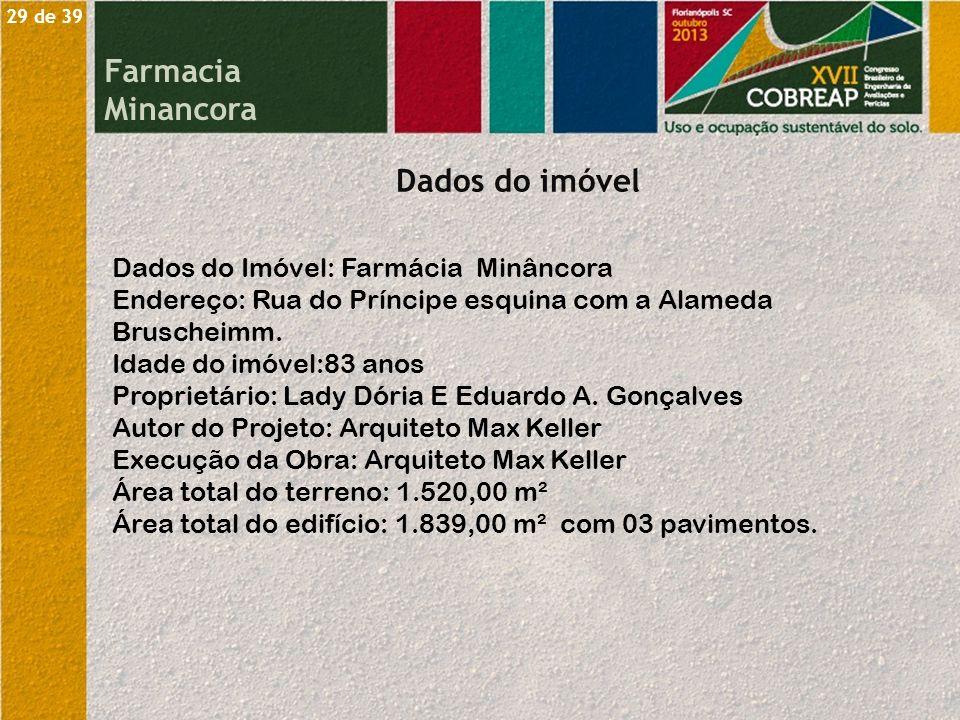 Farmacia Minancora Dados do imóvel Dados do Imóvel: Farmácia Minâncora