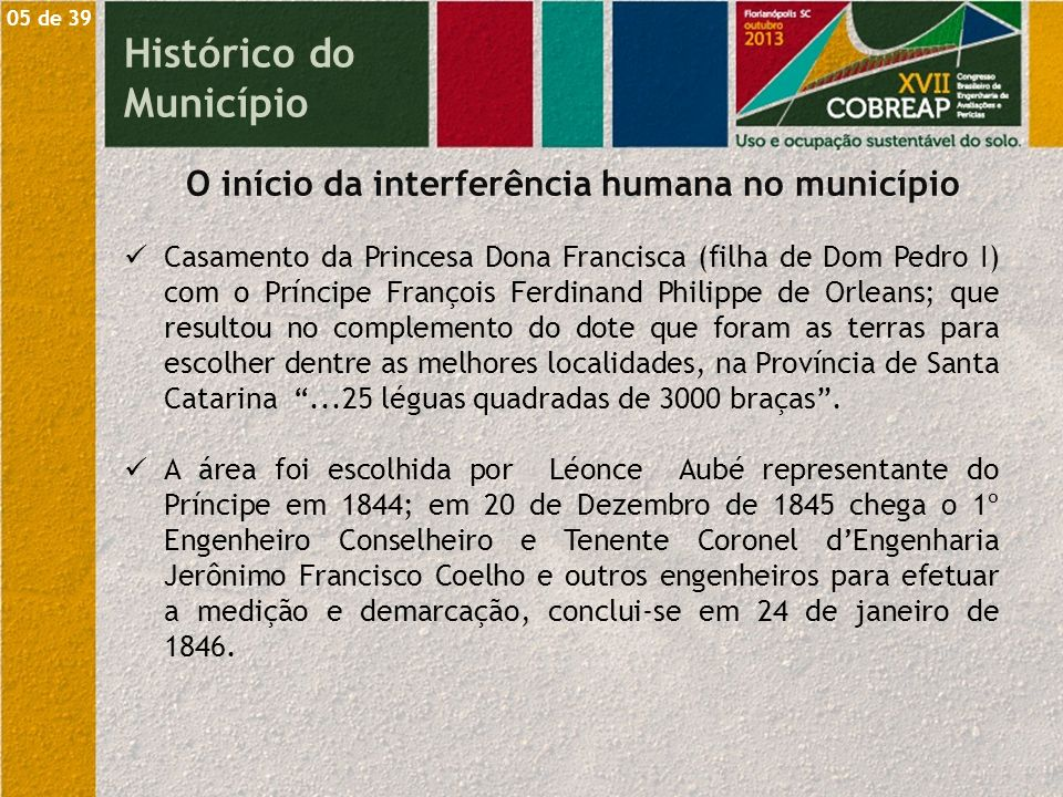 O início da interferência humana no município