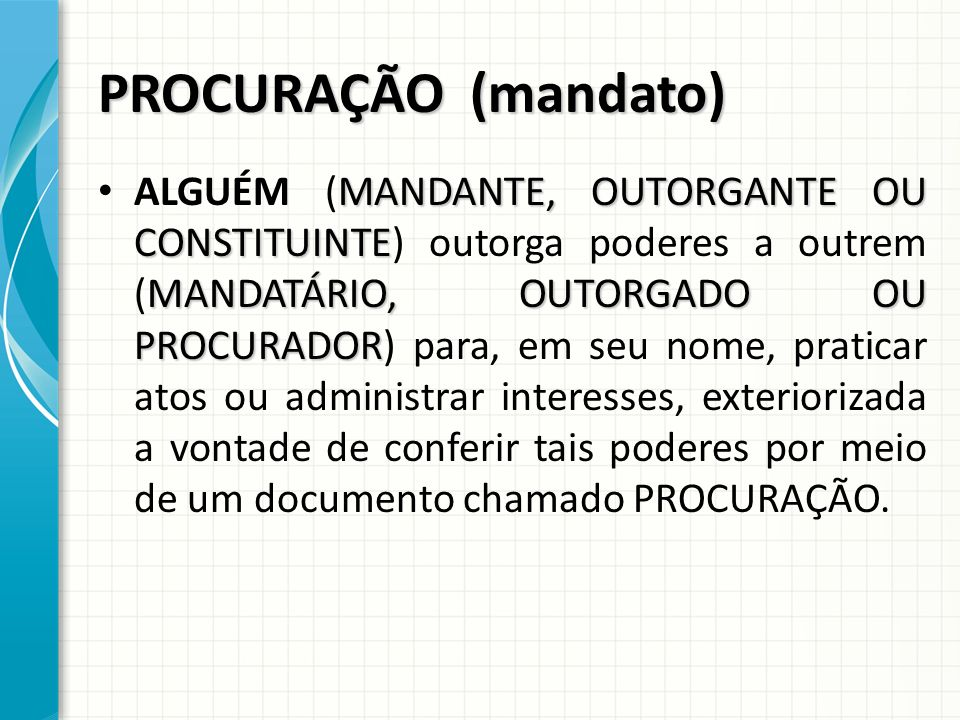 PROCURAÇÃO (mandato)