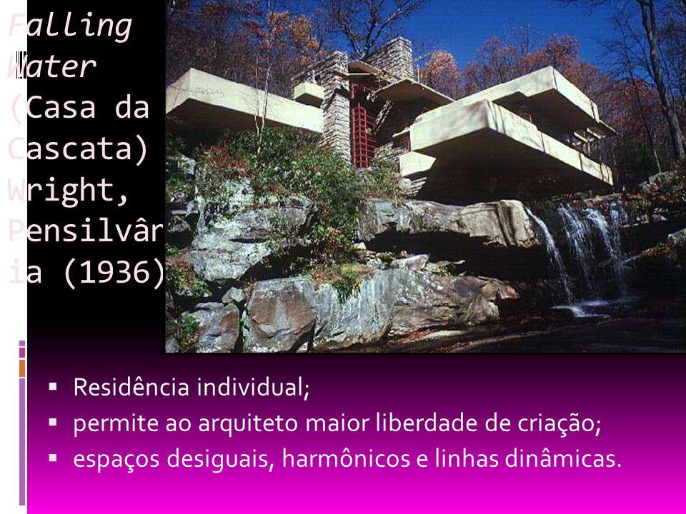 Falling Water (Casa da Cascata) Wright, Pensilvânia (1936)