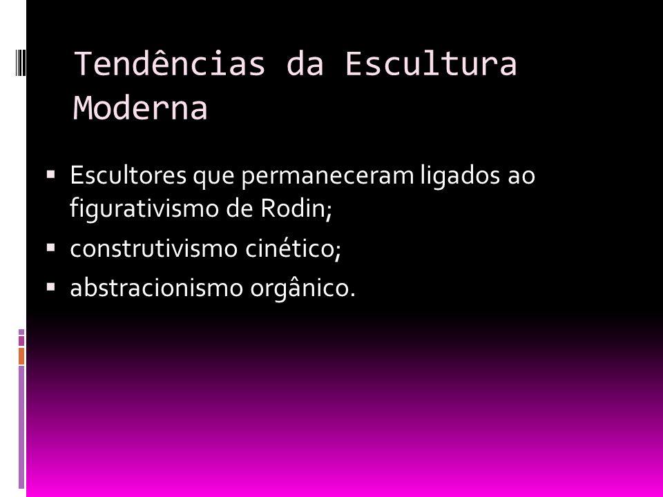 Tendências da Escultura Moderna
