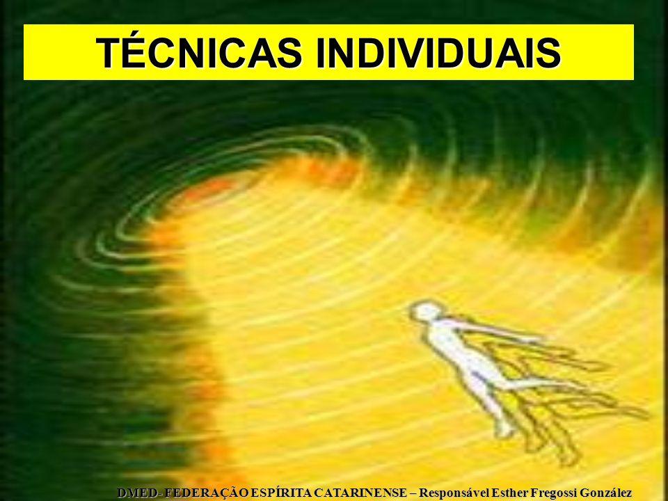 TÉCNICAS INDIVIDUAIS DMED- FEDERAÇÃO ESPÍRITA CATARINENSE – Responsável Esther Fregossi González