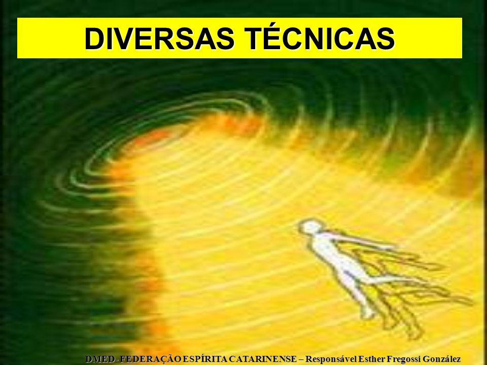 DIVERSAS TÉCNICAS DMED- FEDERAÇÃO ESPÍRITA CATARINENSE – Responsável Esther Fregossi González