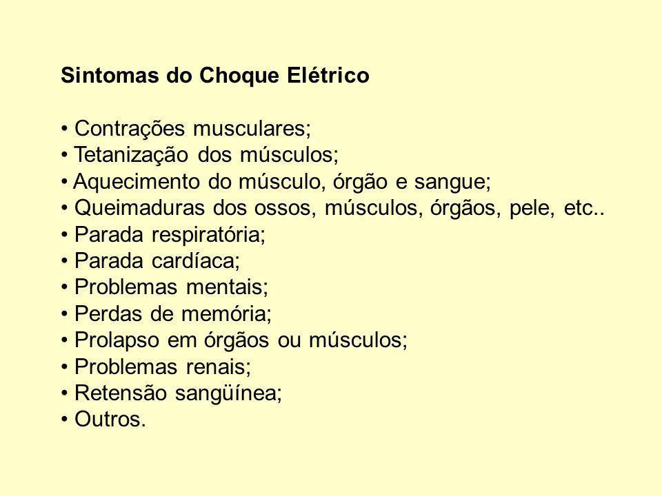 Sintomas do Choque Elétrico