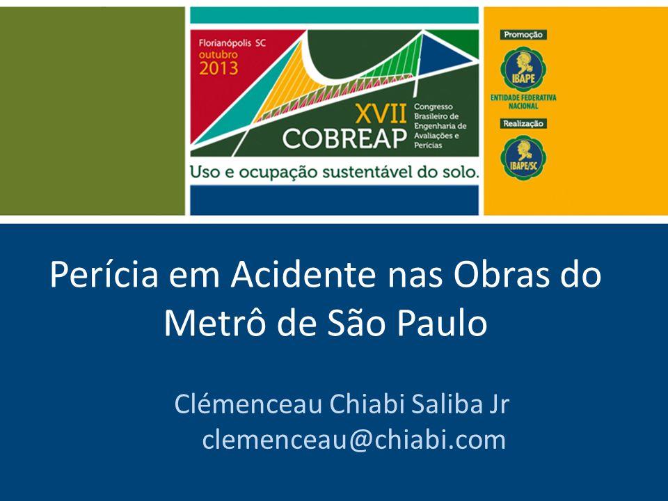 Perícia em Acidente nas Obras do Metrô de São Paulo