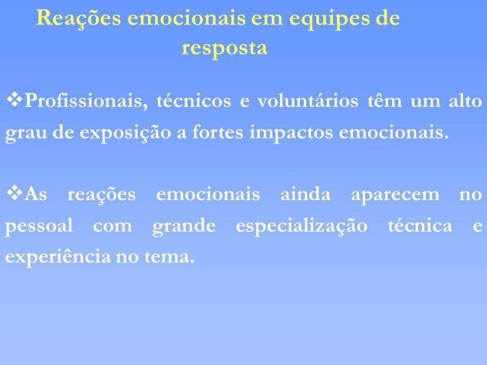 Reações emocionais em equipes de resposta