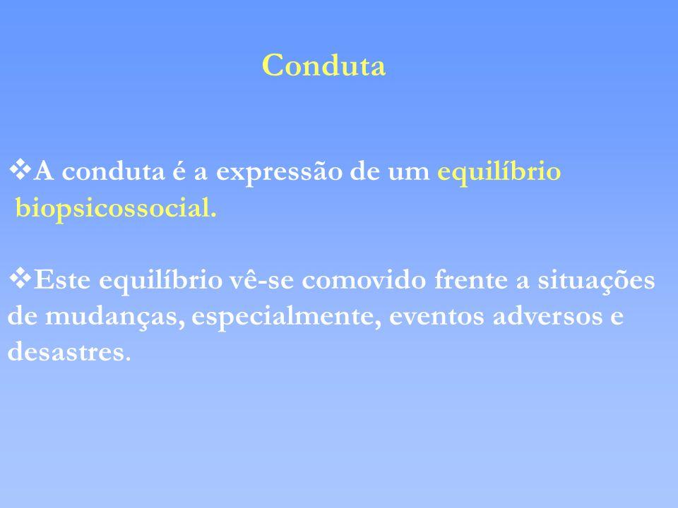 Conduta A conduta é a expressão de um equilíbrio biopsicossocial.