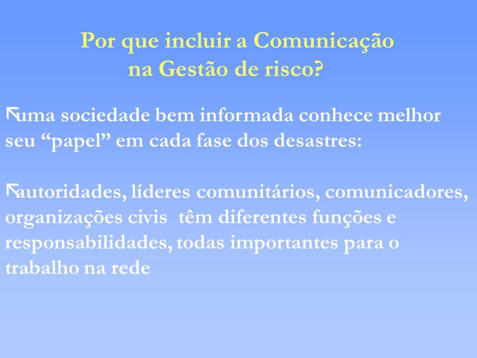 Por que incluir a Comunicação na Gestão de risco