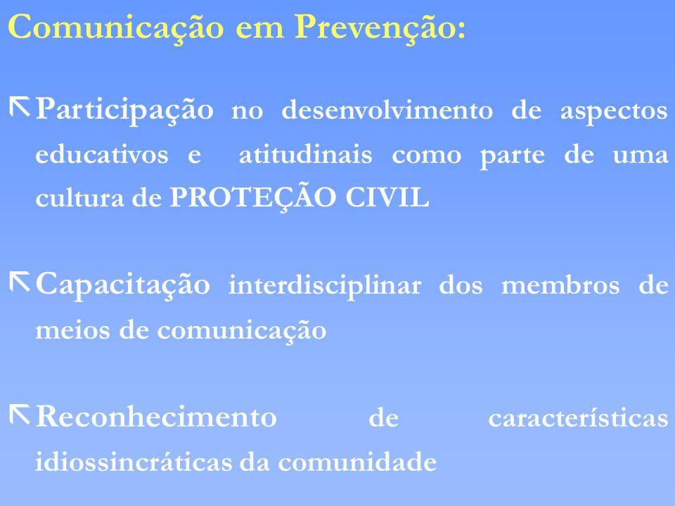 Comunicação em Prevenção: