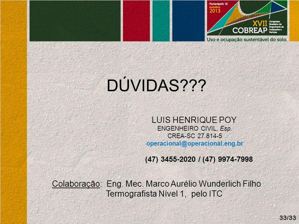 DÚVIDAS LUIS HENRIQUE POY