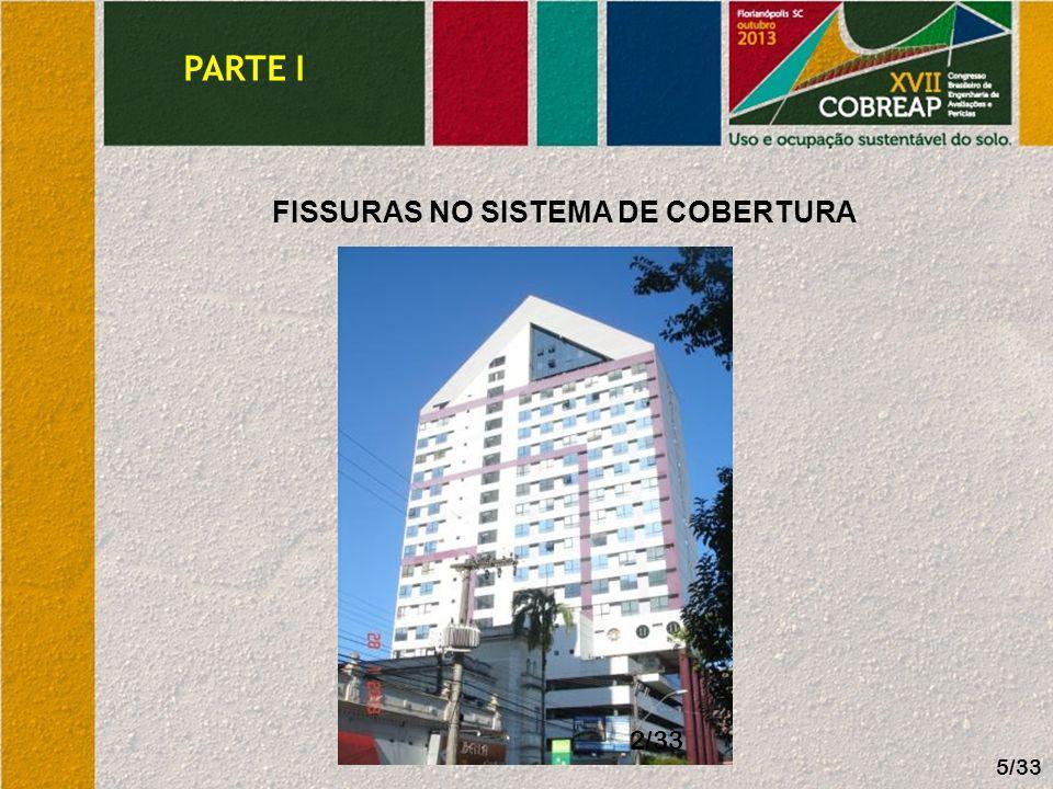 FISSURAS NO SISTEMA DE COBERTURA