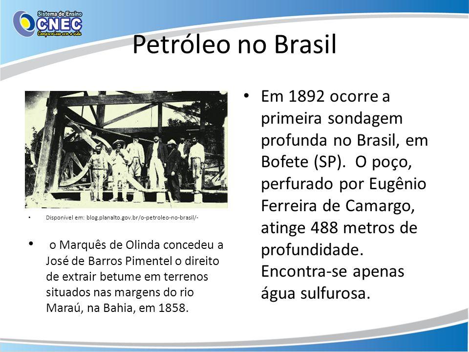 Petróleo no Brasil Disponível em: blog.planalto.gov.br/o-petroleo-no-brasil/-