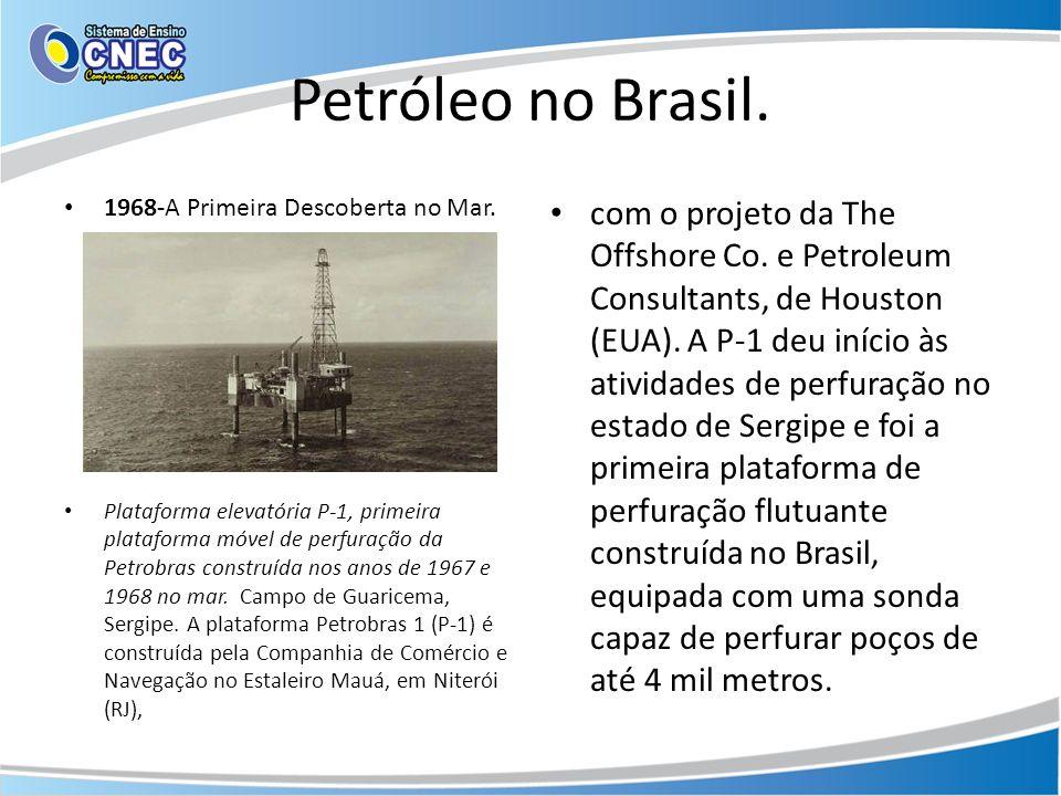 Petróleo no Brasil. 1968-A Primeira Descoberta no Mar.