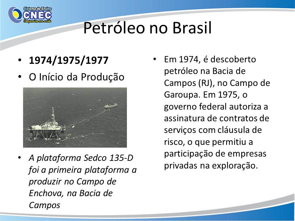 Petróleo no Brasil 1974/1975/1977 O Início da Produção