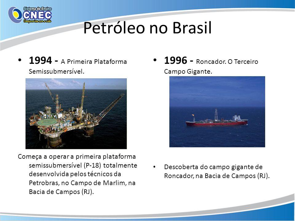 Petróleo no Brasil 1994 - A Primeira Plataforma Semissubmersível.