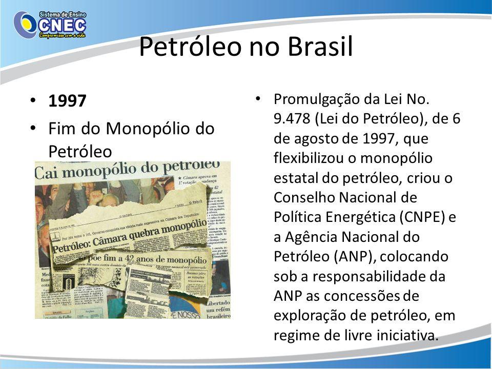 Petróleo no Brasil 1997 Fim do Monopólio do Petróleo
