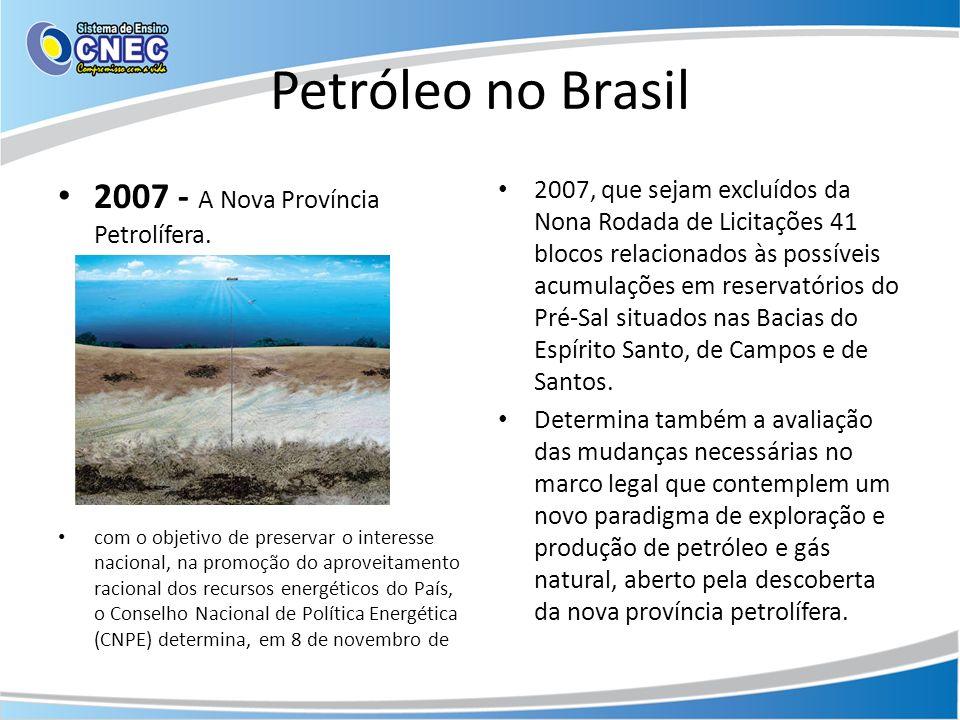 Petróleo no Brasil 2007 - A Nova Província Petrolífera.