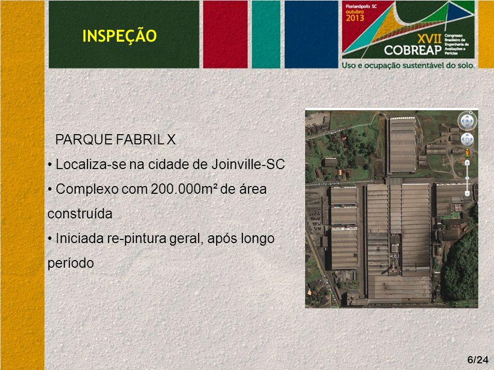 INSPEÇÃO PARQUE FABRIL X Localiza-se na cidade de Joinville-SC
