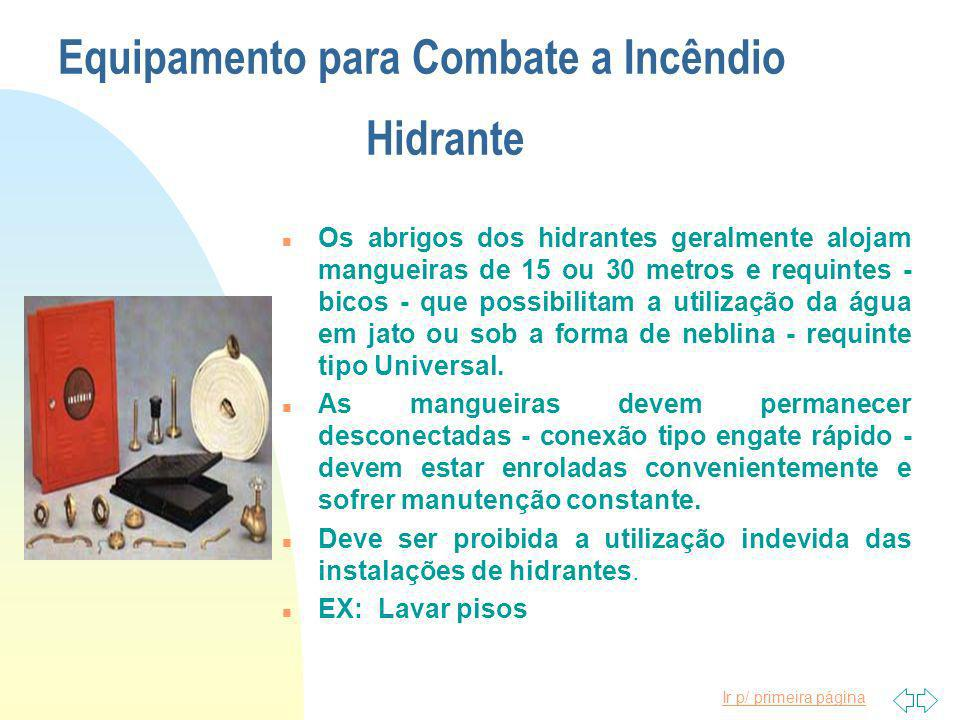 Equipamento para Combate a Incêndio Hidrante