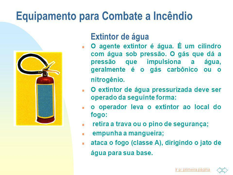 Equipamento para Combate a Incêndio Extintor de água