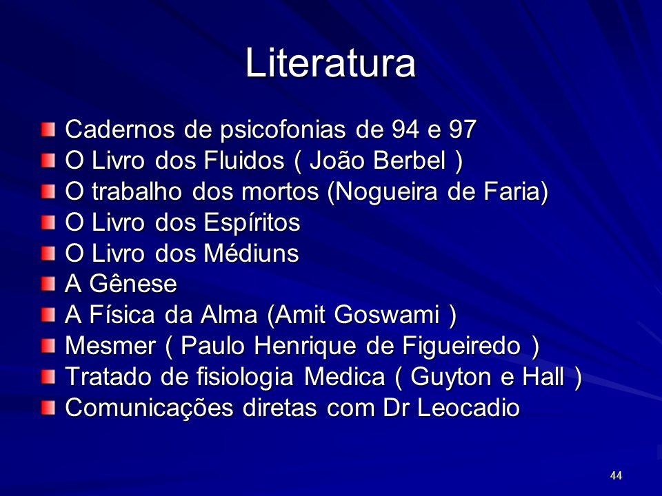 Literatura Cadernos de psicofonias de 94 e 97