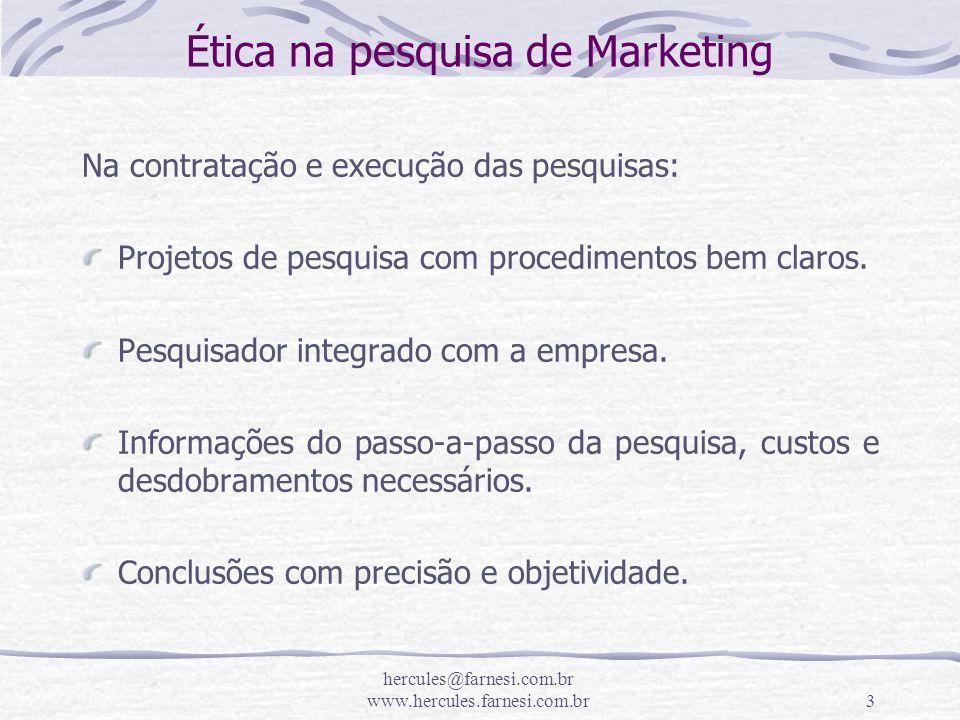 Ética na pesquisa de Marketing