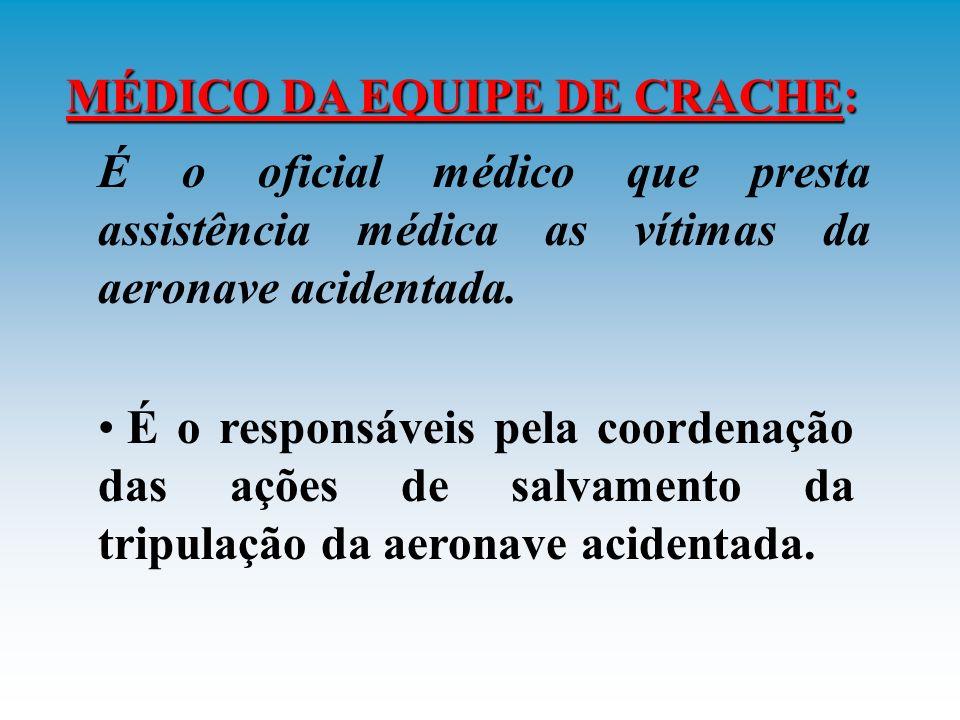MÉDICO DA EQUIPE DE CRACHE: