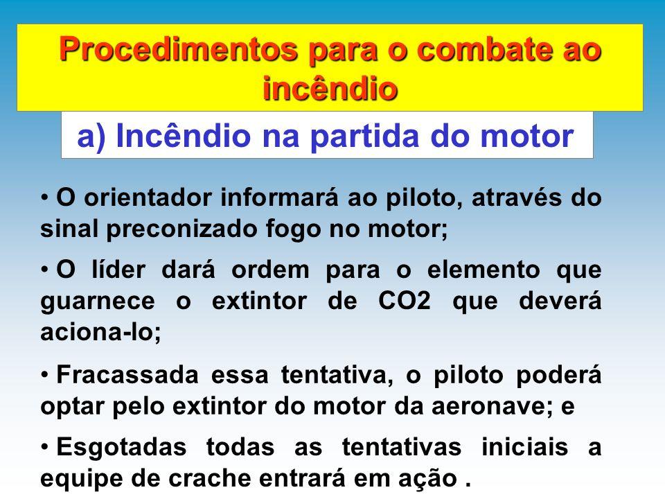 Procedimentos para o combate ao incêndio