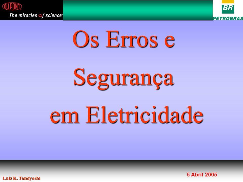 Bom, dia, Agradeço o convite da Petrobras. Vamos falar sobre o erro humano e a segurança em eletricidade.