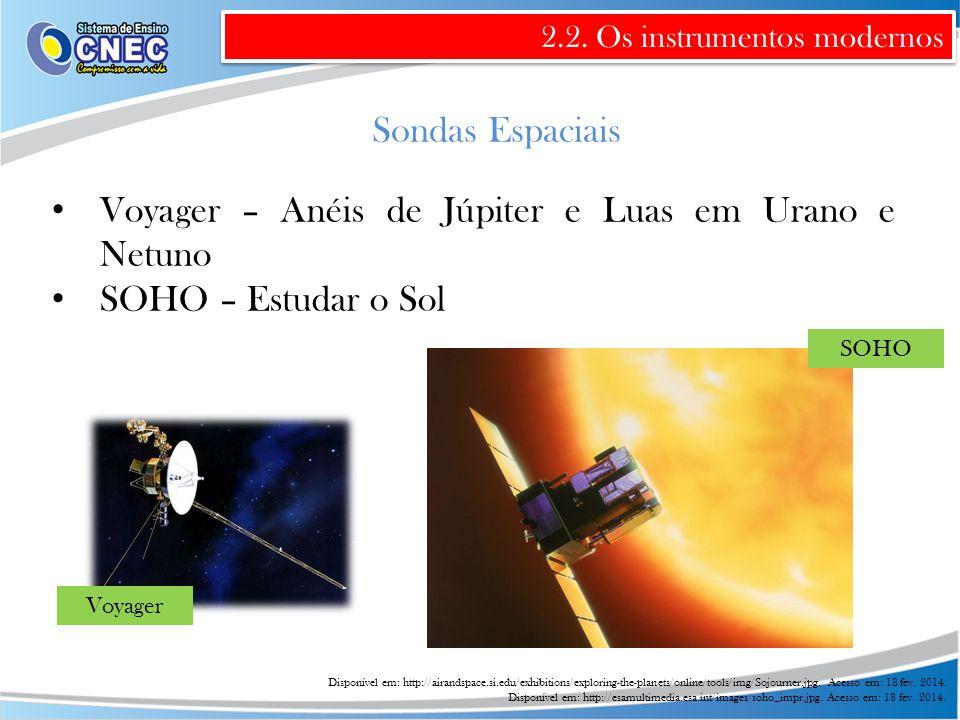 Voyager – Anéis de Júpiter e Luas em Urano e Netuno