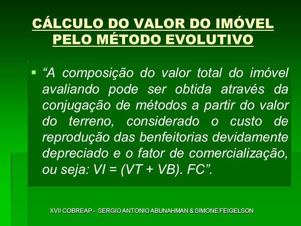 CÁLCULO DO VALOR DO IMÓVEL PELO MÉTODO EVOLUTIVO
