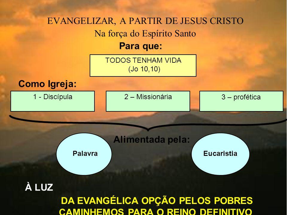 DA EVANGÉLICA OPÇÃO PELOS POBRES CAMINHEMOS PARA O REINO DEFINITIVO