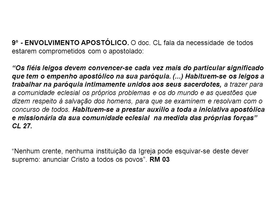 9° - ENVOLVIMENTO APOSTÓLICO. O doc