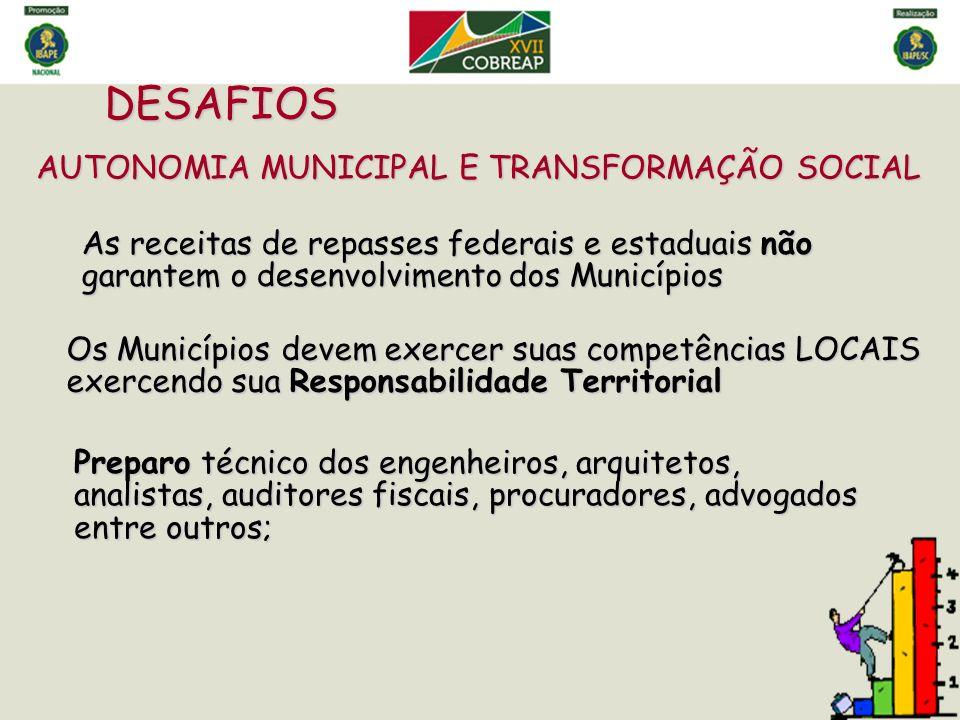 DESAFIOS AUTONOMIA MUNICIPAL E TRANSFORMAÇÃO SOCIAL
