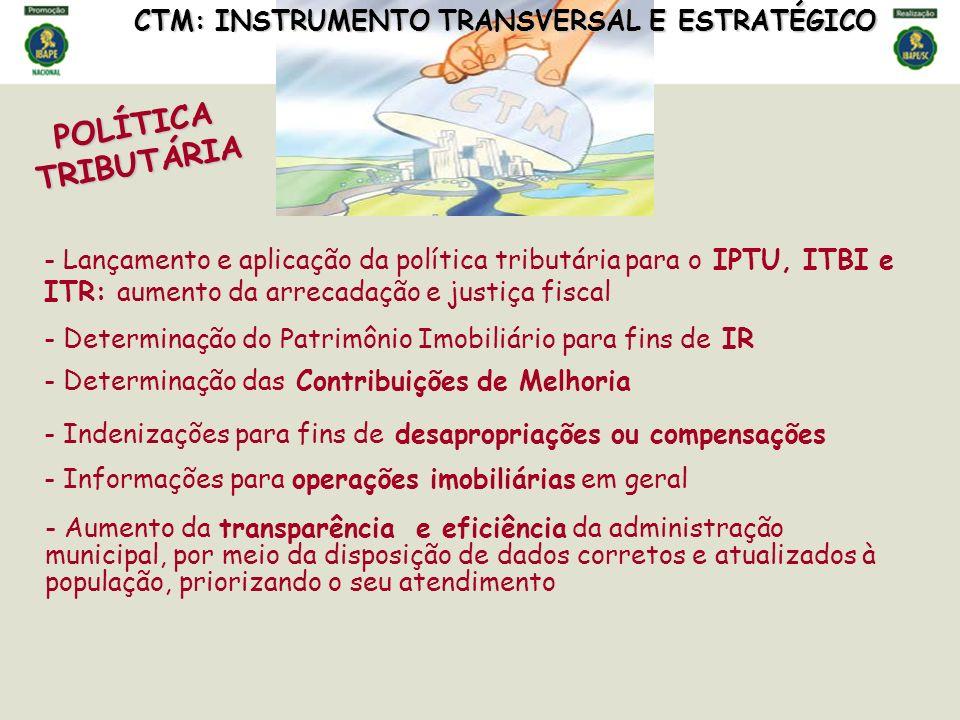 POLÍTICA TRIBUTÁRIA CTM: INSTRUMENTO TRANSVERSAL E ESTRATÉGICO