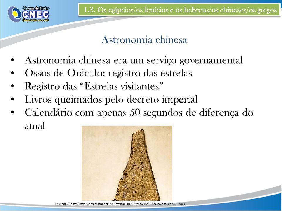 Astronomia chinesa era um serviço governamental