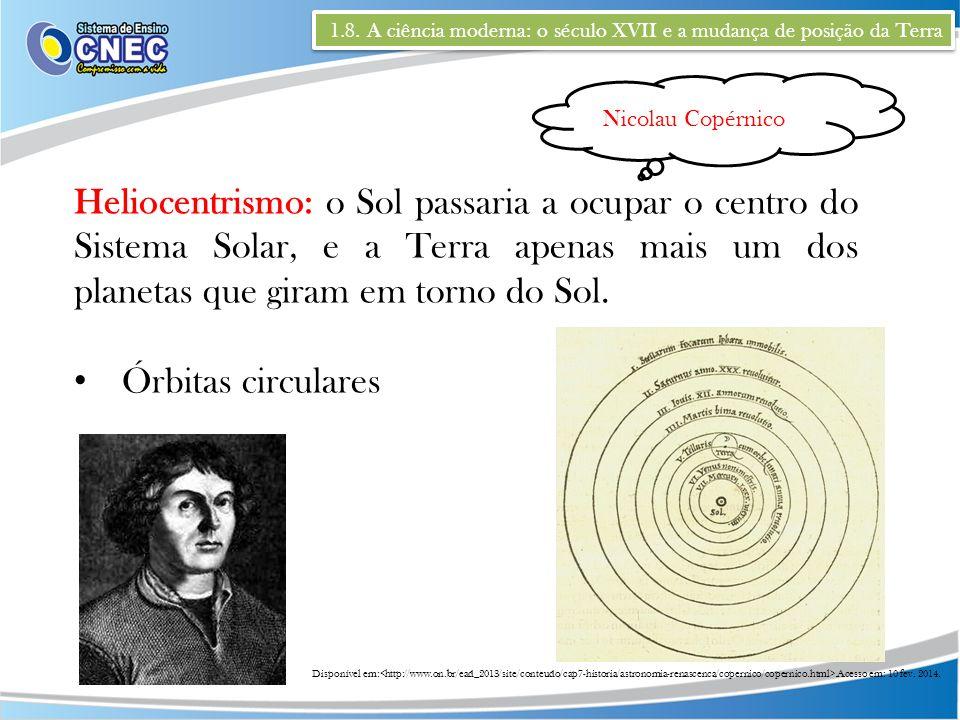 1.8. A ciência moderna: o século XVII e a mudança de posição da Terra