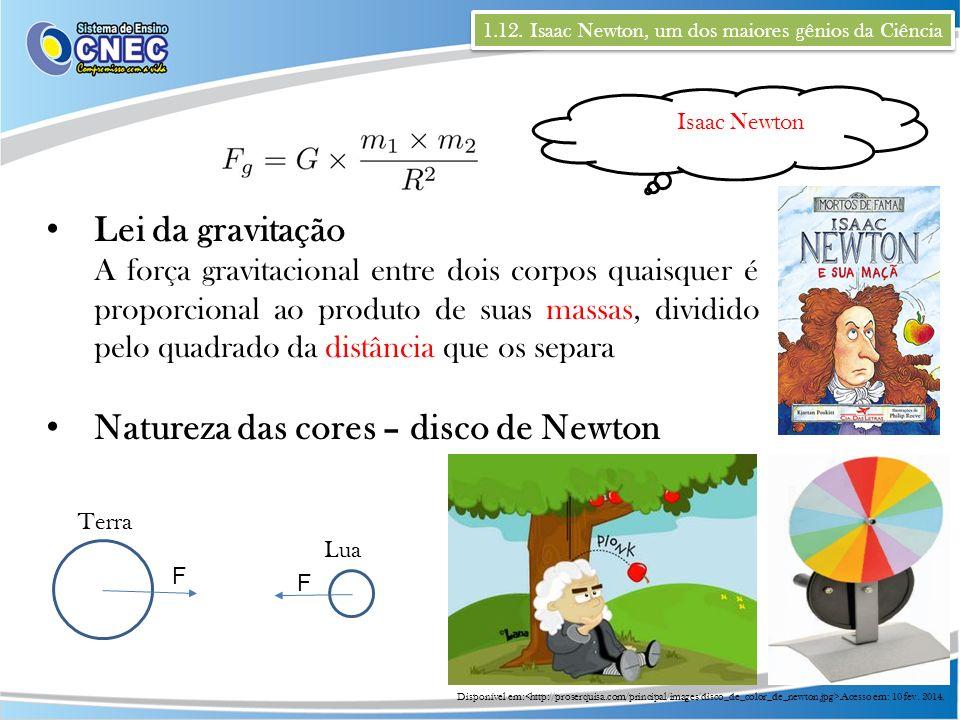 Natureza das cores – disco de Newton