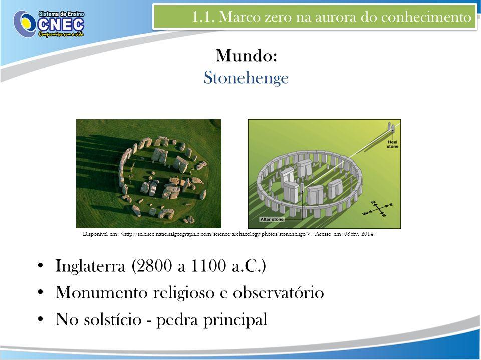 Monumento religioso e observatório No solstício - pedra principal