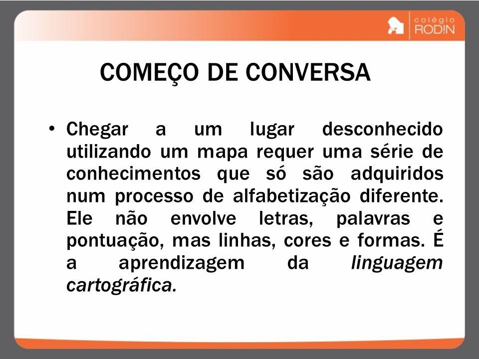 COMEÇO DE CONVERSA