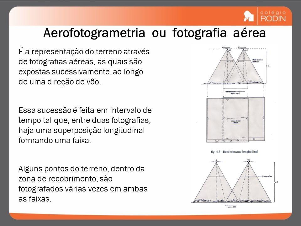 Aerofotogrametria ou fotografia aérea