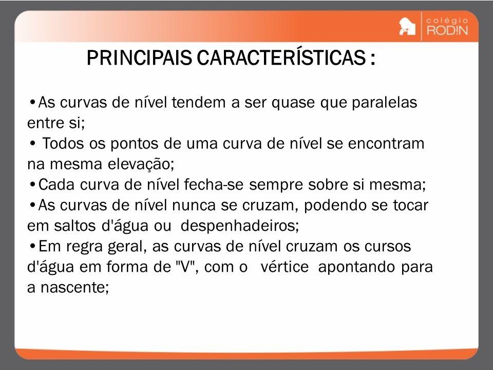 PRINCIPAIS CARACTERÍSTICAS :