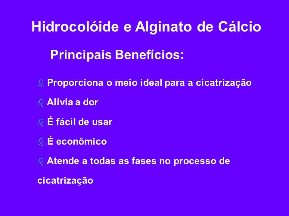 Hidrocolóide e Alginato de Cálcio