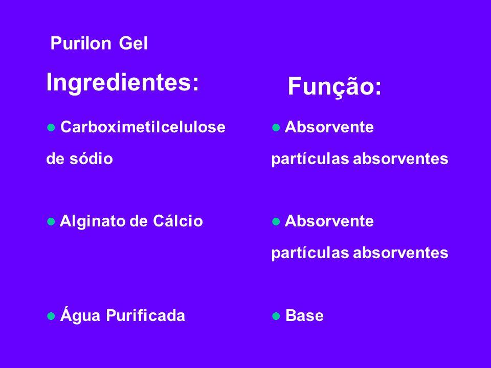 Ingredientes: Função: