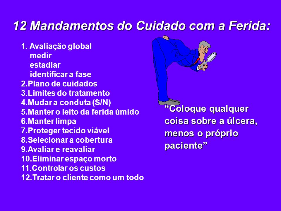 12 Mandamentos do Cuidado com a Ferida: