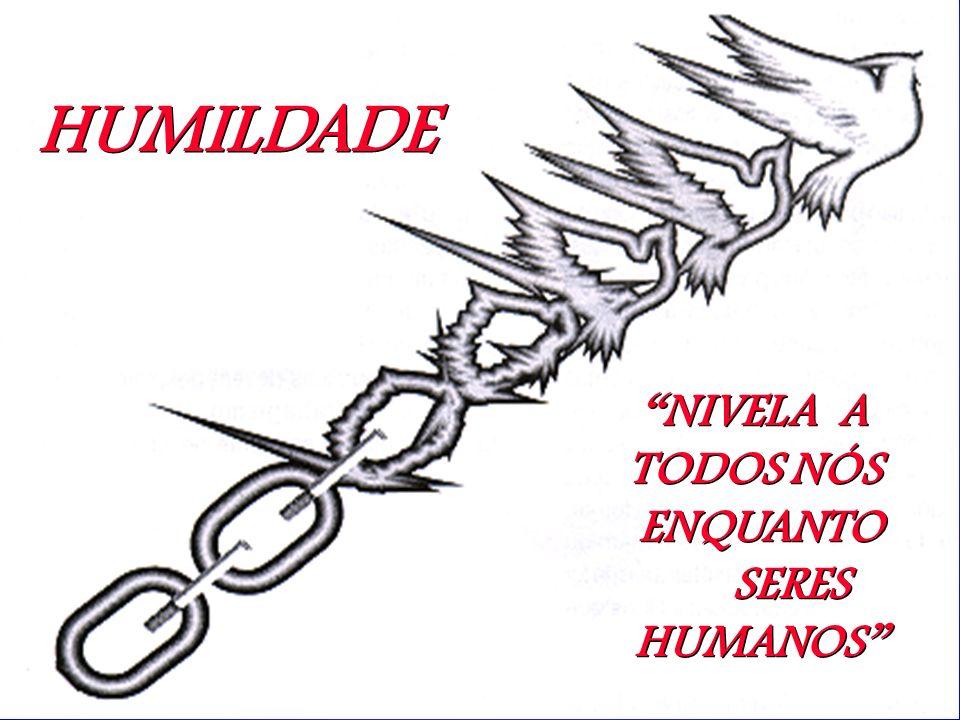 HUMILDADE NIVELA A TODOS NÓS ENQUANTO SERES HUMANOS