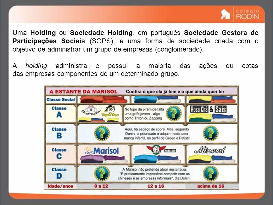 Uma Holding ou Sociedade Holding, em português Sociedade Gestora de Participações Sociais (SGPS), é uma forma de sociedade criada com o objetivo de administrar um grupo de empresas (conglomerado).